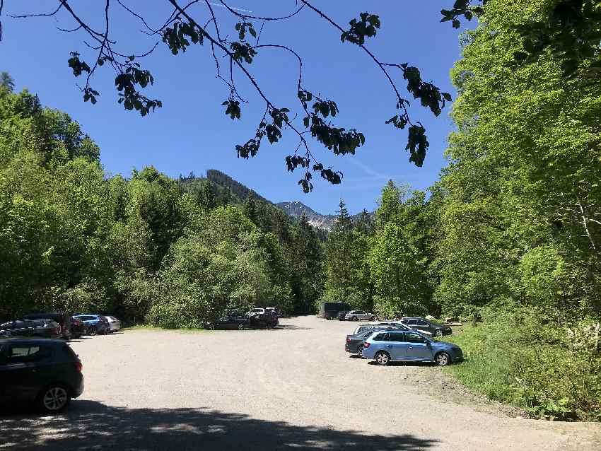 Der kostenlose Tatzelwurm Wasserfall Parkplatz