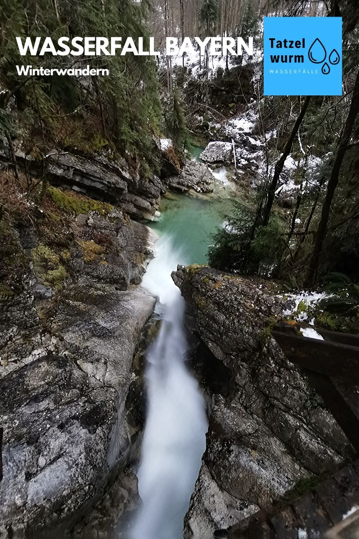 Tatzelwurm Wasserfall Winter