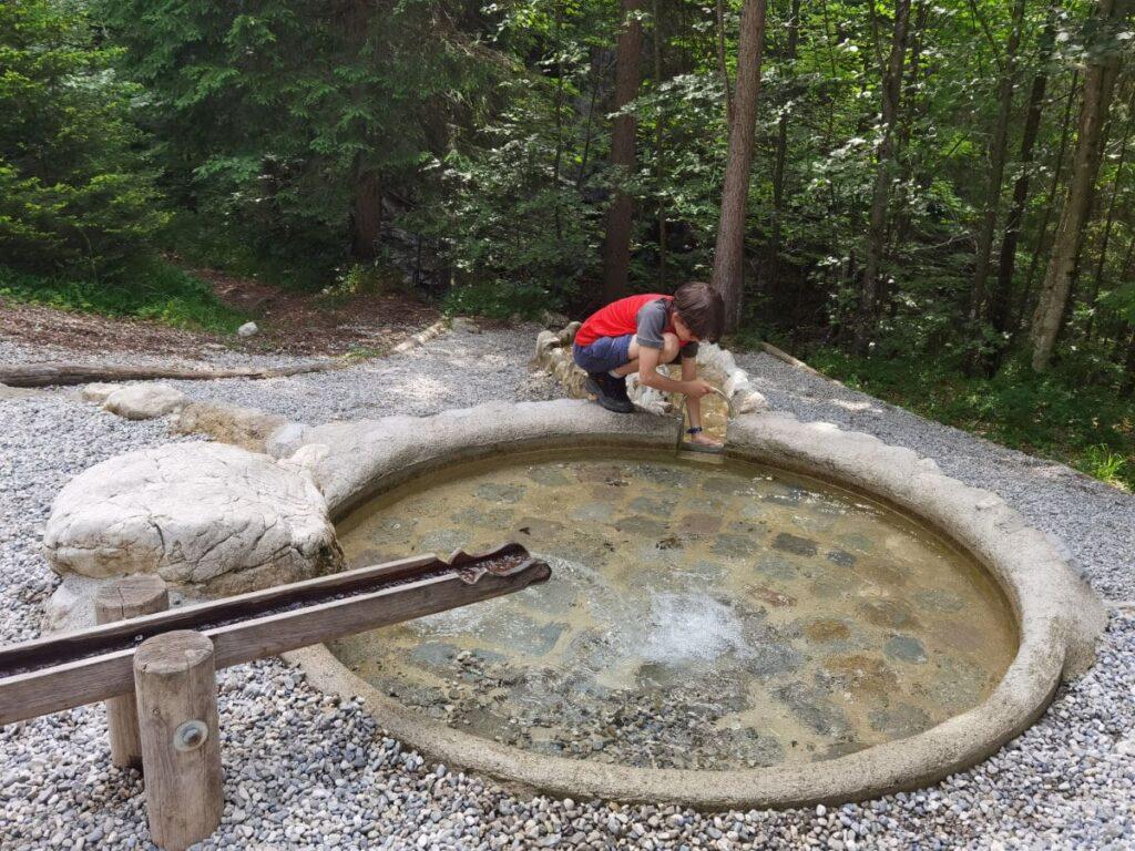 Grüne Gumpe - Wasserspielplatz in Bayrischzell
