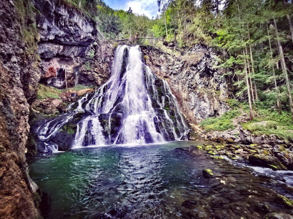 Die Josefsthaler Wasserfälle erinnern mich an den Gollinger Wasserfall