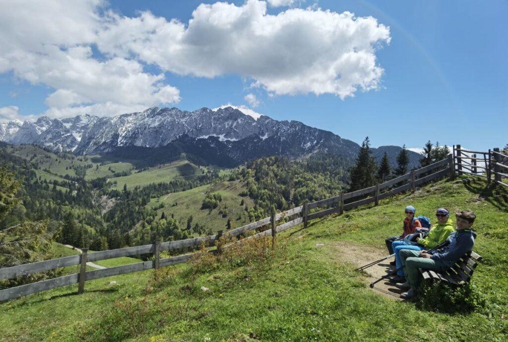 Oberaudorf wandern - mit dem Kaiserlift ins Kaisergebirge