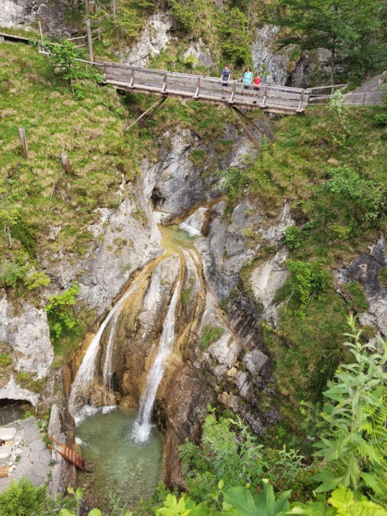 Der Wasserfall Bayrischzell mit den vielen Gumpen